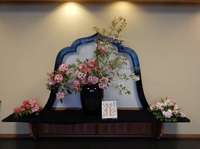 2016法生寺花祭り玄関ホール