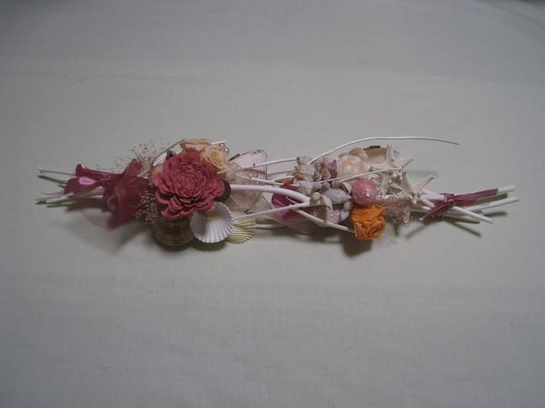 サラシミツマタと貝の壁飾り