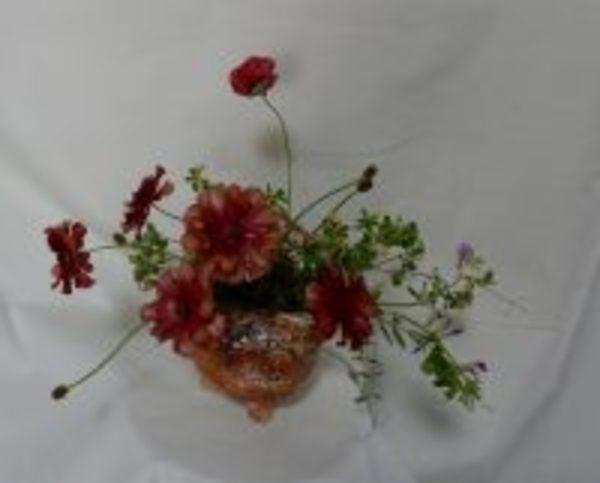 道辺の花でアレンジメントを